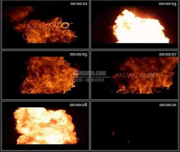 AE0774-烈火 LOGO文本展示