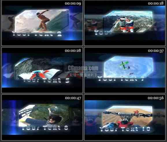 AE0807-多边形 视频展示相册