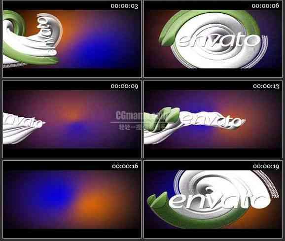 AE0812-运动规律 LOGO展示
