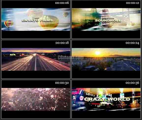 AE0830-城市街景 图片视频展示