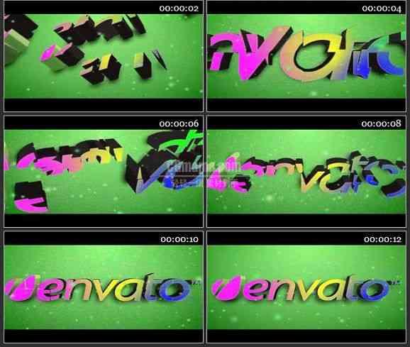 AE0838-3D彩色组合字体 LOGO展示