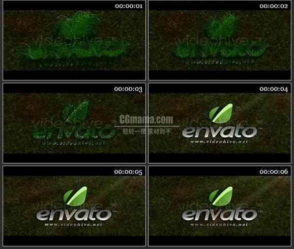 AE0908-绿草坪 LOGO 展示