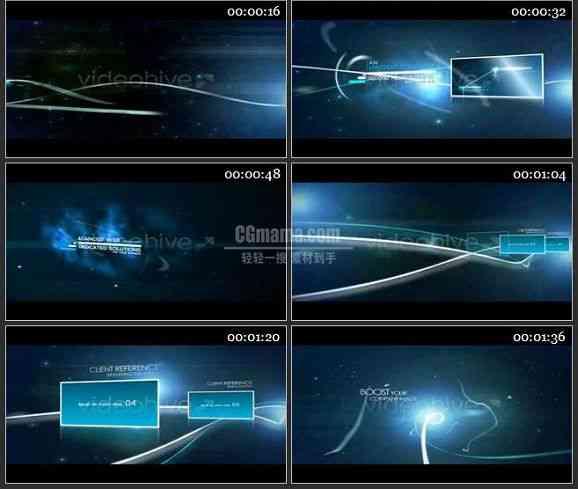 AE0918-超炫星空背景图文展示片头