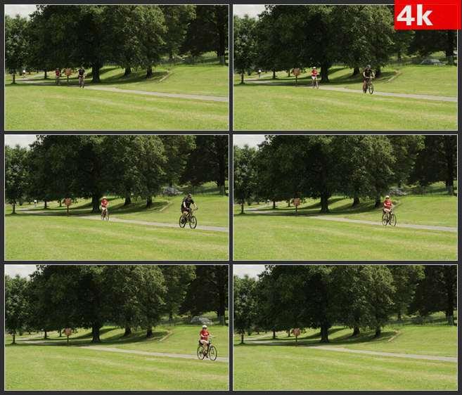 4K0497国外户外骑行运动 高清实拍视频素材
