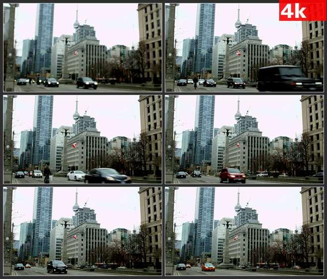 4K0502国外城市建筑街道街景 高清实拍视频素材