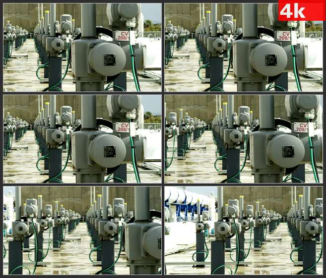 4K0531工厂设备管道机械 高清实拍视频素材