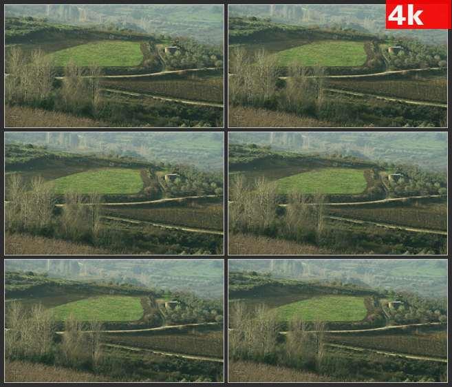 4K0535耕地原野牧场航拍 高清实拍视频素材