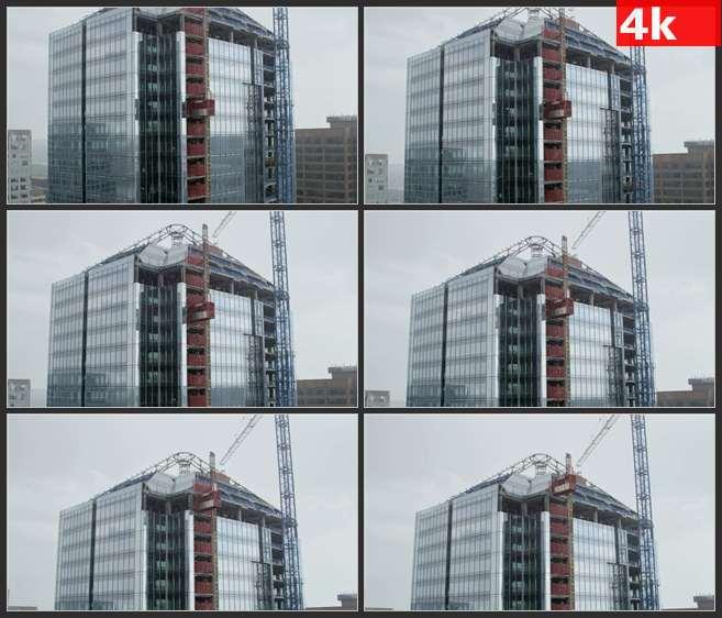 4K0543高层建筑户外货运电梯 高清实拍视频素材