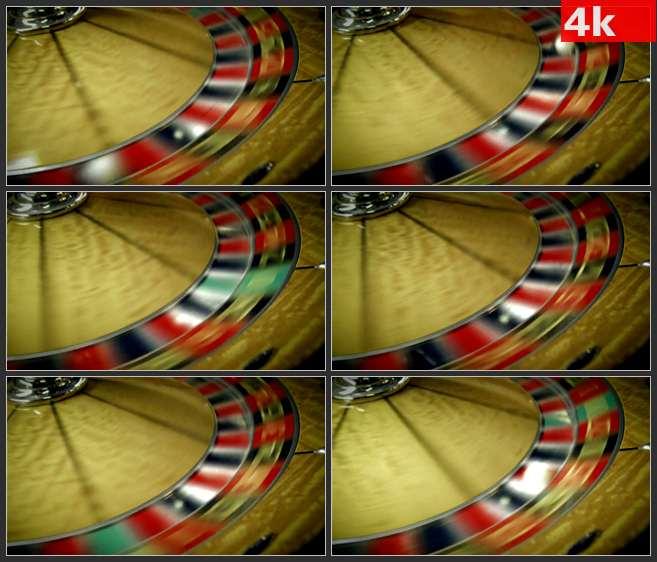4K0589赌桌赌盘旋转特写 高清实拍视频素材
