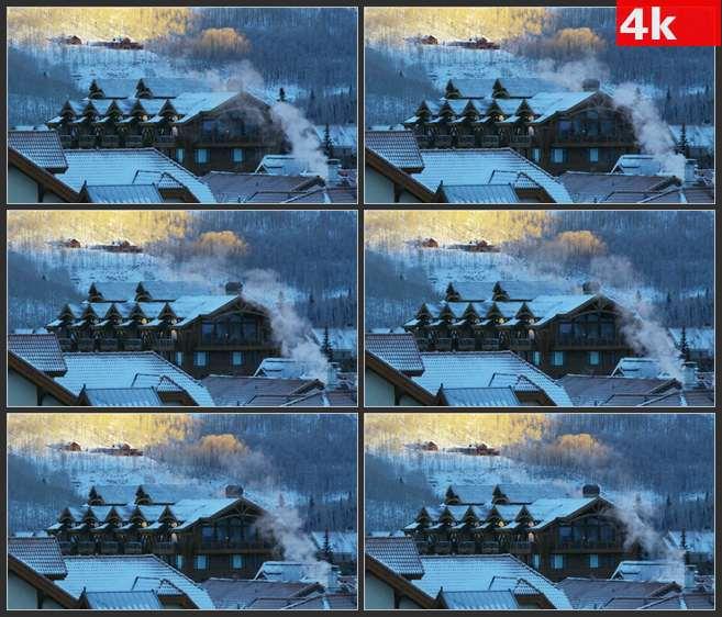 4K0622从壁炉中升起的烟雾 高清实拍视频素材