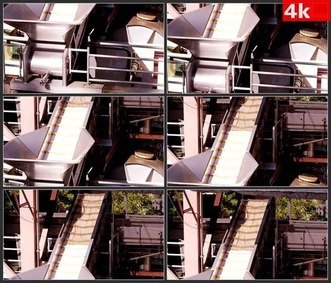 4K0627传送带运输工具机械 高清实拍视频素材