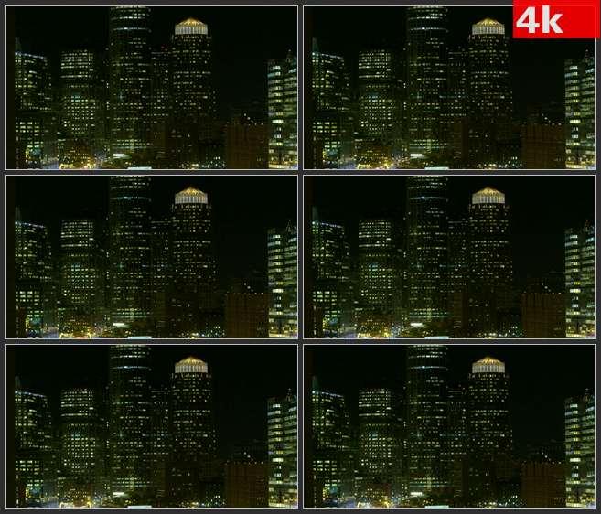 4K0648波士顿夜景 高清实拍视频素材