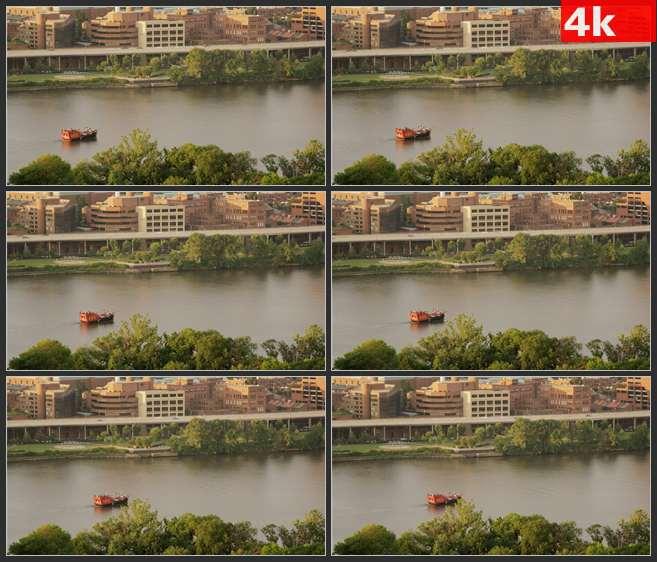 4K0660波多马克河游船巡航 高清实拍视频素材