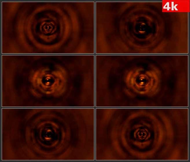 4K0703暗红色深红音波水波涟漪运动LED 高清实拍视频素材