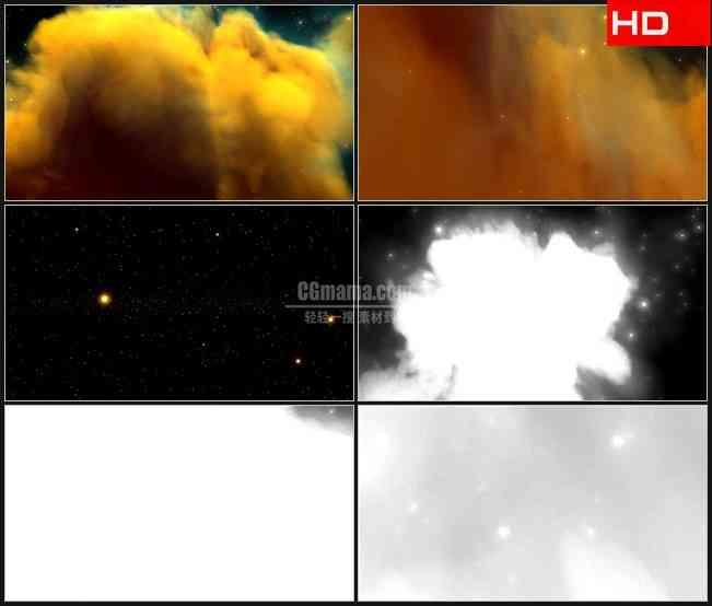 BG0002-星云穿梭云彩星空高清LED视频背景素材
