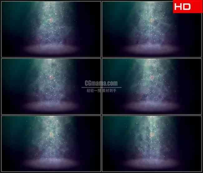 BG0005-光柱烟雾颗粒星光飘落高清LED视频背景素材