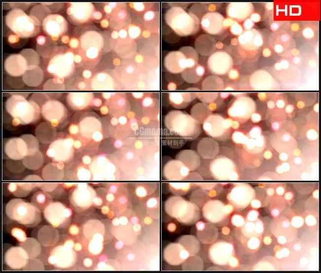 BG0008-美丽梦幻橙红色粒子光斑高清LED视频背景素材