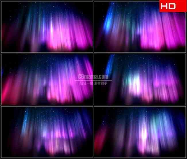 BG0010-空间蓝色紫色多彩光芒高清LED视频背景素材