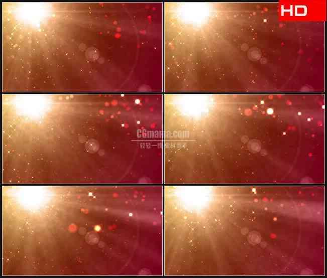 BG0012-金色橙色光芒光斑闪耀高清LED视频背景素材