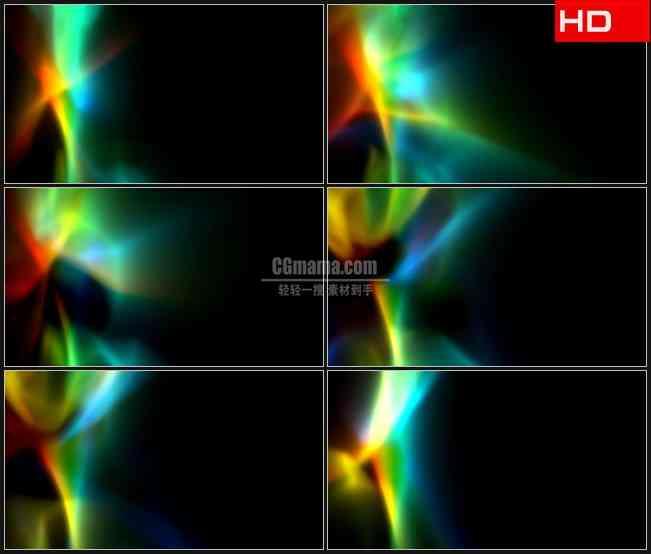 BG0021-彩虹七彩光斑光线照耀高清LED视频背景素材