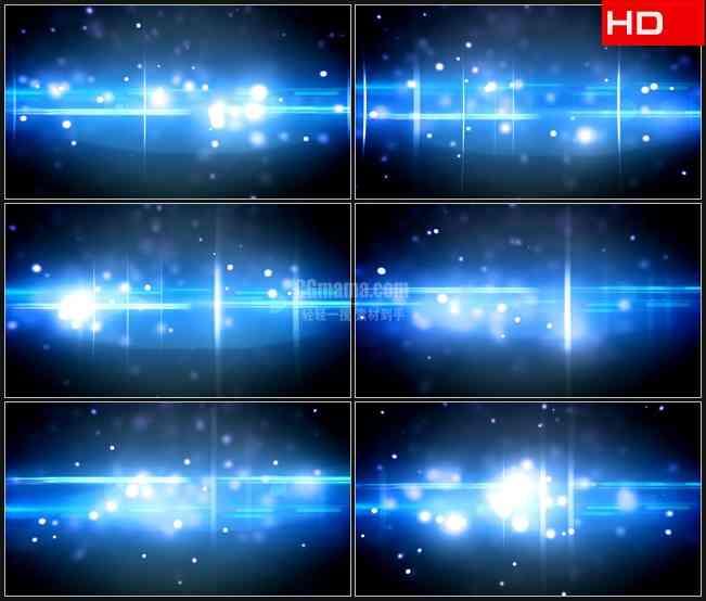 BG0022-蓝色十字星白色光斑粒子萤火高清LED视频背景素材