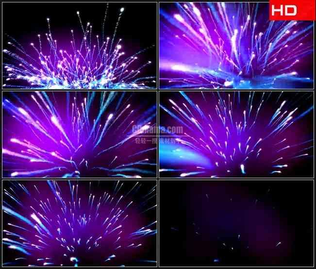 BG0031-明亮的纤维光学光束流行烟火高清LED视频背景素材