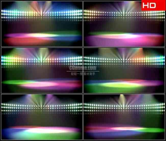 BG0047-彩色灯光霓虹聚光灯舞台KTV高清LED视频背景素材