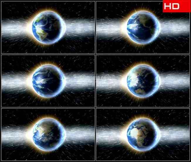 BG0054-旋转地球光宇宙高清LED视频背景素材