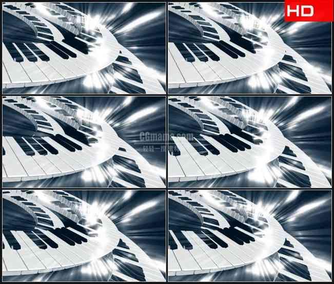 BG0068-滚动发光键盘高清LED视频背景素材