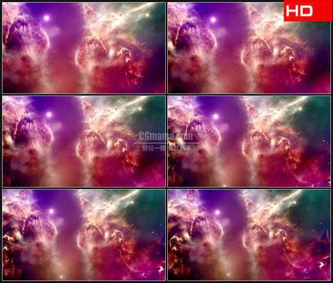 BG0071-彩色宇宙星空空间高清LED视频背景素材