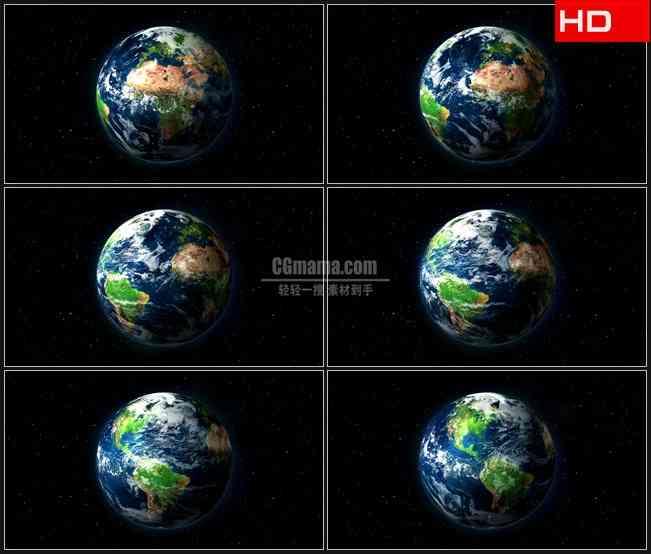 BG0078-地球太空转动高清LED视频背景素材