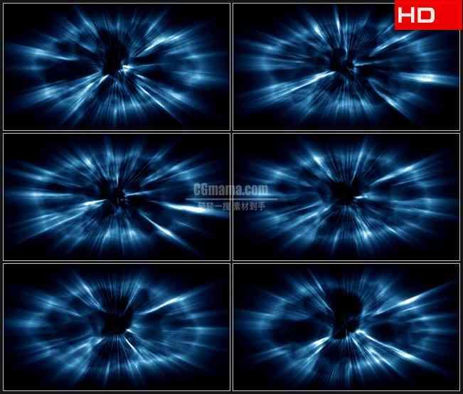 BG0093-蓝色发光云光波高清LED视频背景素材