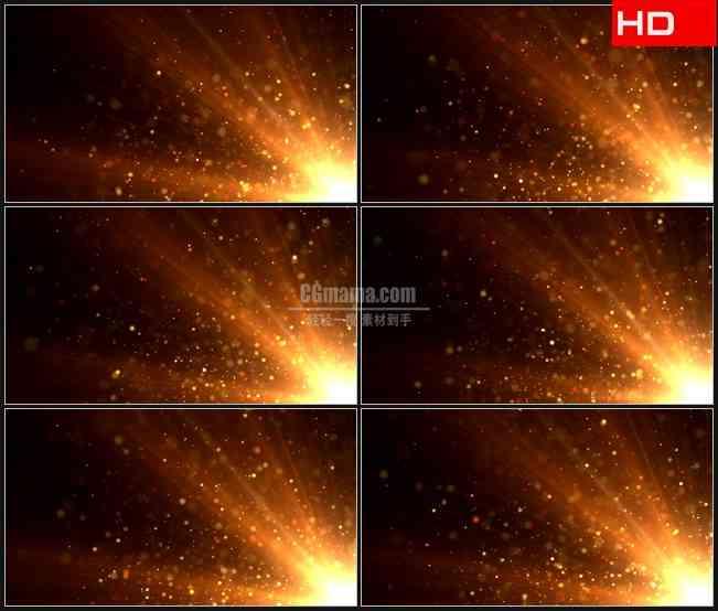 BG0094-太阳粒子橙色光辉光斑高清LED视频背景素材