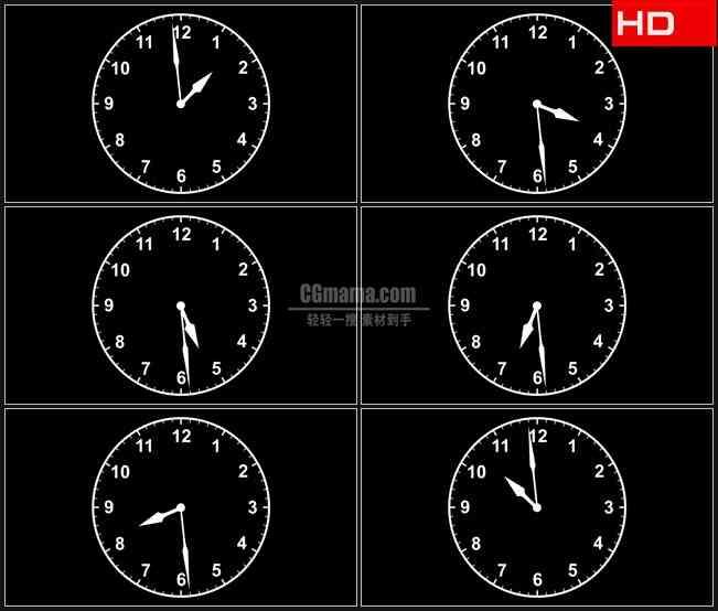 BG0095-表盘指针旋转时间高清LED视频背景素材