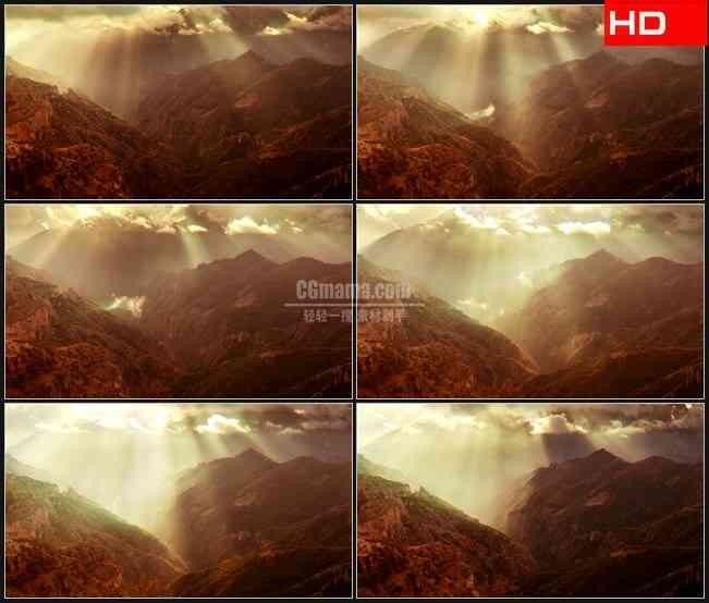 BG0099-老影响古铜色峡谷光线光芒高清LED视频背景素材