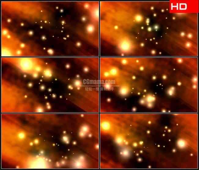 BG0102-橘红色荧光粒子光斑高清LED视频背景素材