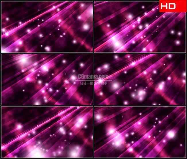 BG0103-紫色光条白色微光萤火粒子高清LED视频背景素材
