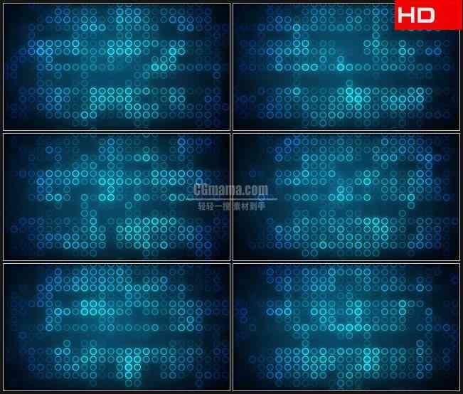 BG0109-蓝闪动网格模式高清LED视频背景素材