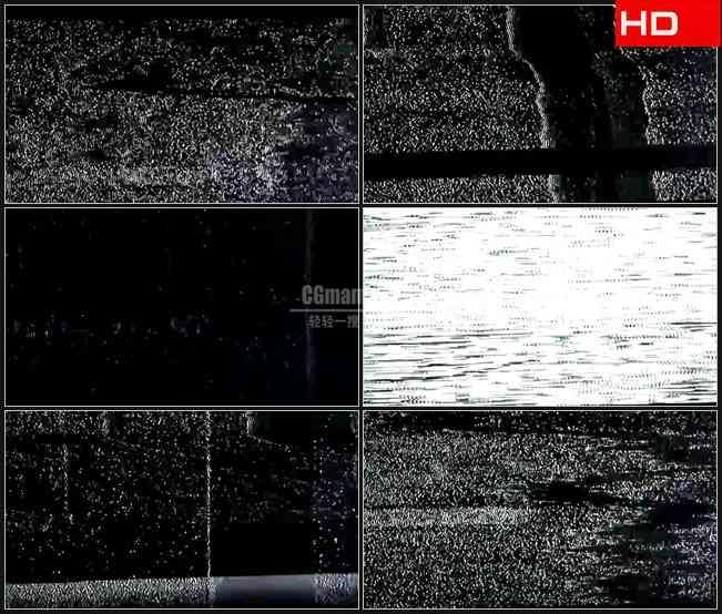 BG0120-电视信号干扰强烈噪波高清LED视频背景素材