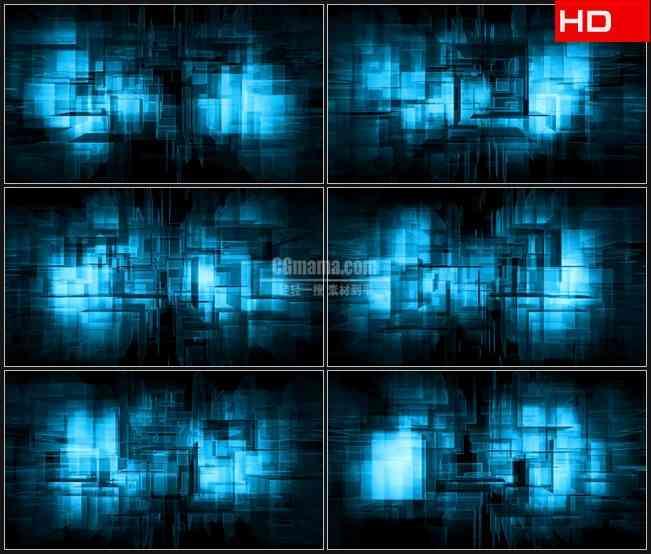 BG0122-蓝色透明方块移动科技摘要高清LED视频背景素材