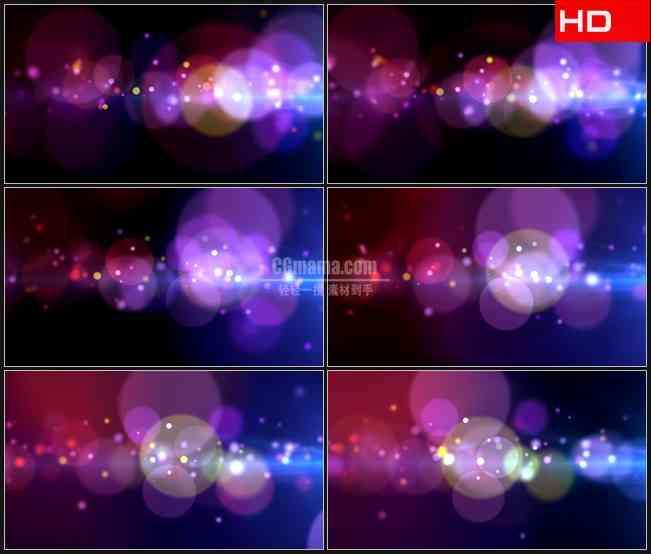 BG0130-紫色梦幻大光斑小粒子高清LED视频背景素材