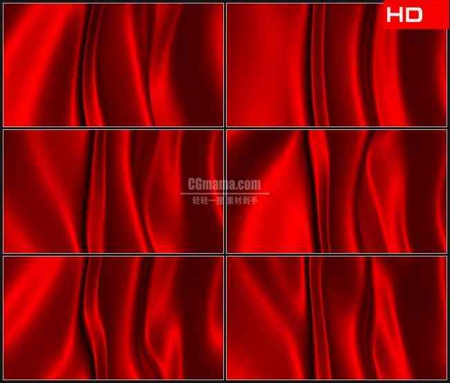 BG0141-红色国旗红绸缎飘动高清LED视频背景素材