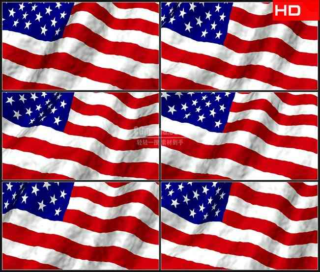 BG0147-美国国旗飘动高清LED视频背景素材