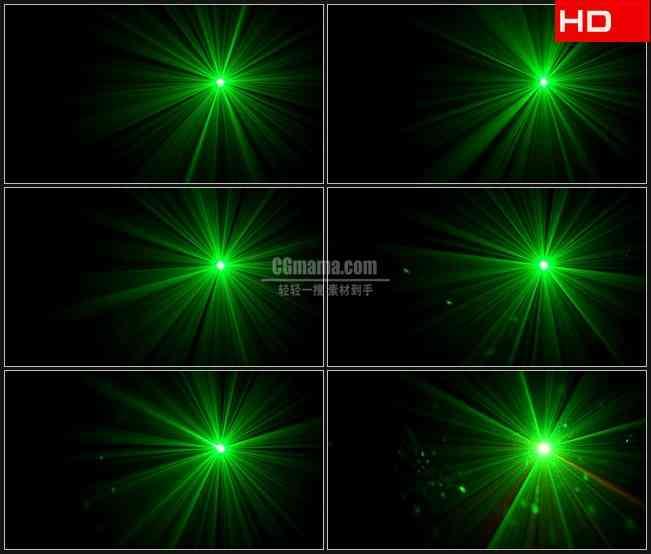 BG0149-绿色辉光光芒闪耀高清LED视频背景素材