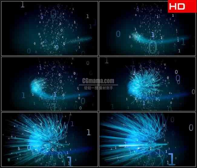 BG0151-数字流源代码变换数学科技高清LED视频背景素材