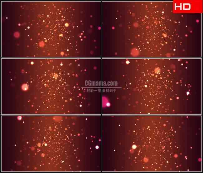 BG0159-橙色粒子隧道光斑高清LED视频背景素材