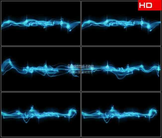 BG0166-透明通道蓝色粒子带运动高清LED视频背景素材