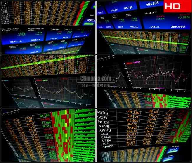 BG0169-商务金融股票行情板块高清LED视频背景素材