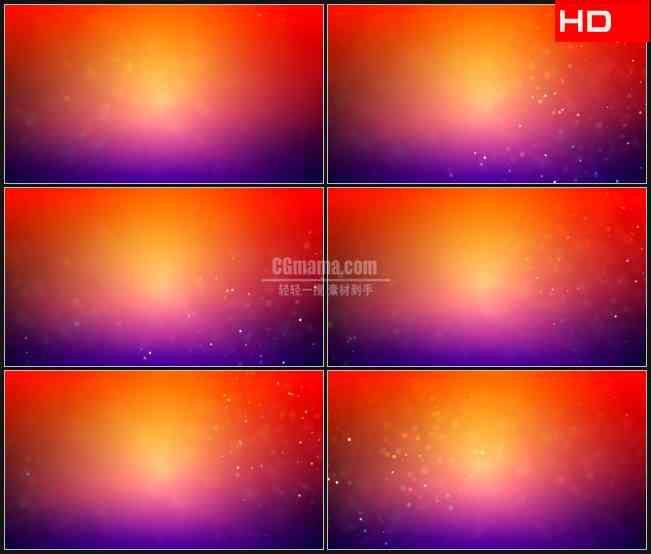 BG0173-红色橙色紫色背景颗粒光斑动态背景高清LED视频背景素材