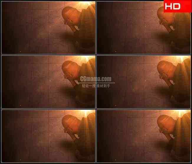 BG0176-祈祷明亮光芒照耀高清LED视频背景素材